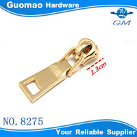 champagne color metal zipper slider and zipper puller