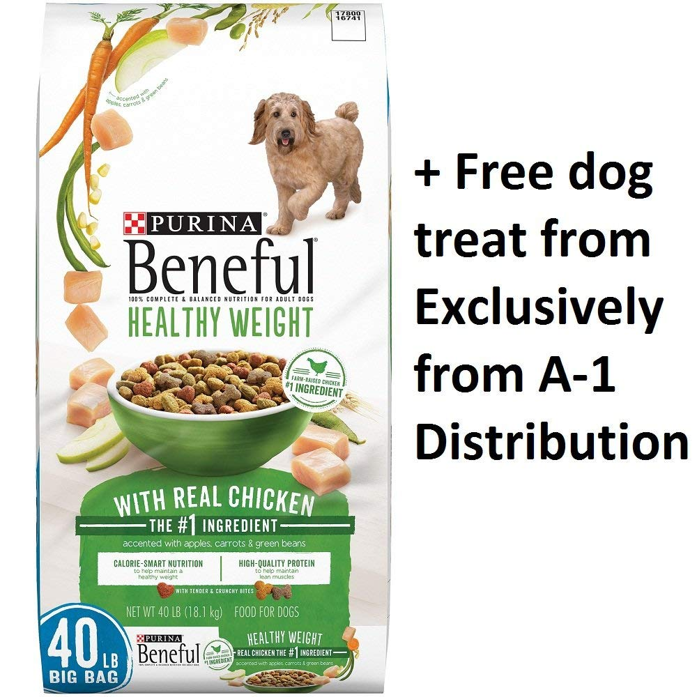 Purina Beneful Healthy Weight With Real Chicken (Healthy Weight With Real Chicken, 40 lb. - 1 Bag + Free Treats)