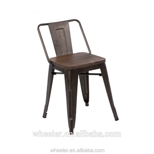 General Use chair vintage Industrial Metal counter bistro bar table Chairs kitchen furniture living room
