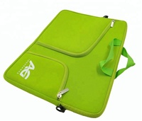 Factory Price Neoprene Laptop Bag Sleeve with Handle and 2 Outside Pockets