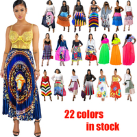 22 colors In stock ruffle elegant high quality summer women ladies half-length sexy pleated skirts