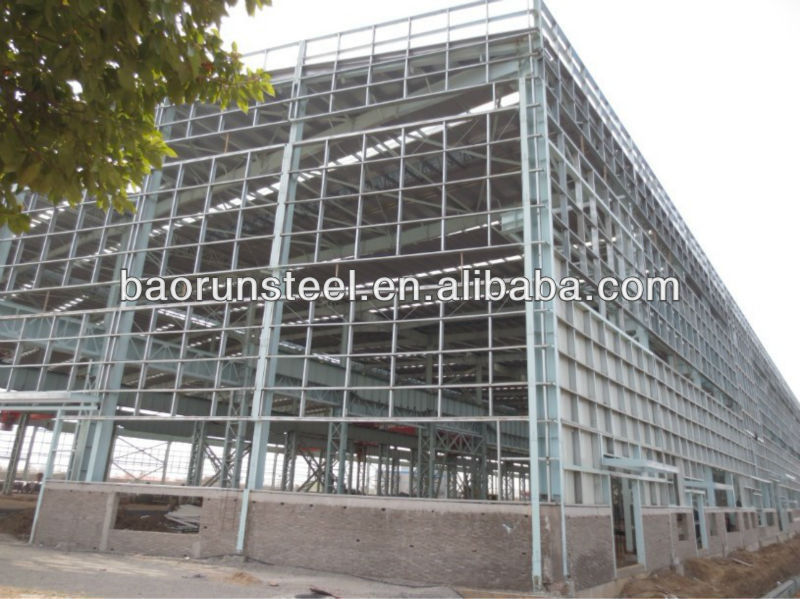 Prefab high strength steel structure warehouse