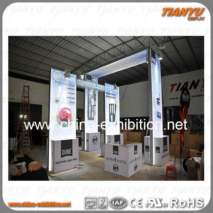 Portable Exhibition Backdrop : Portable customize exhibition backdrop trade show booth