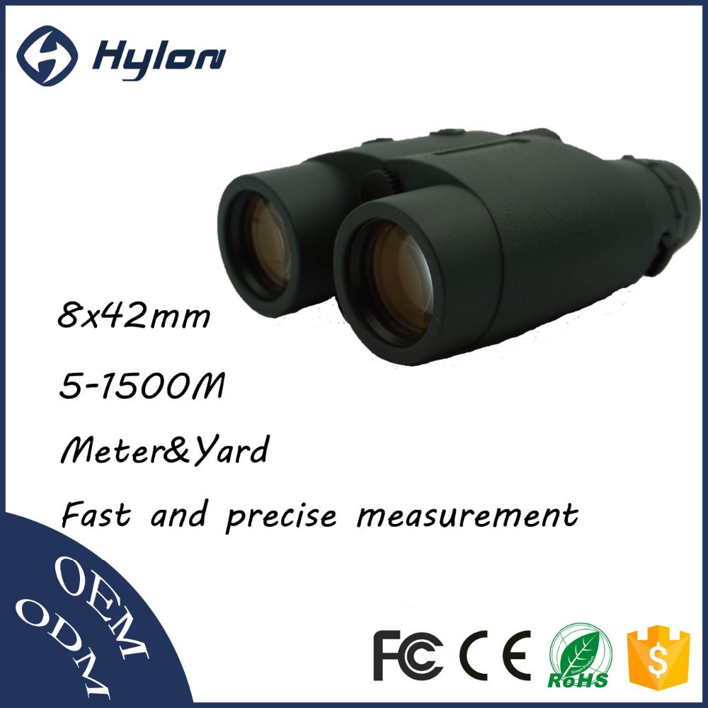 Hylon 8x42 1500M high quality long distance measuring equipment binoculars with laser rangefinder