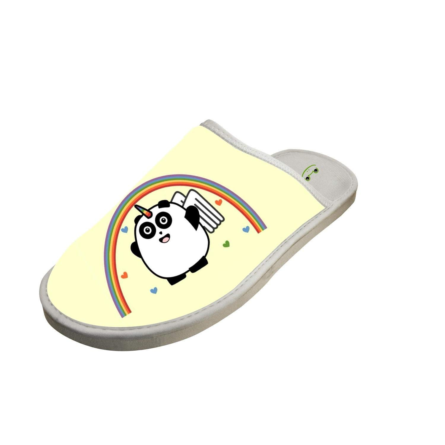 KOUY Cool Dabbing Pug Closed Toe Cotton Slippers Warm Soft Indoor Shoes Non-watertight