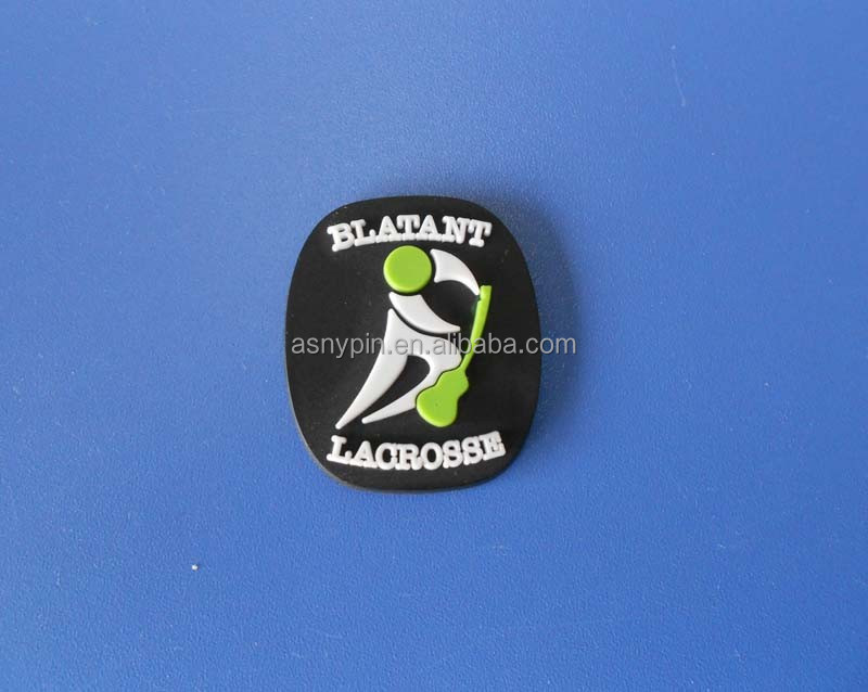 3D ice hockey soft pvc patch with 3M adhesive sticker, hockey rubber garment labels