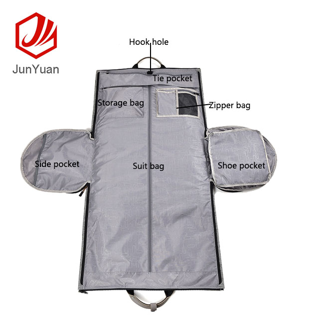 JUNYUAN Carry-on Garment Bag Business Large Duffel Bag with Shoe Pouch