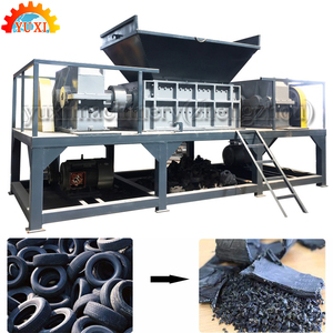 Double Shaft Used Tire Cutting Machine/Tire Sidewall Cutter/Scrap Tyre Shredder Crushing Machine For Sale