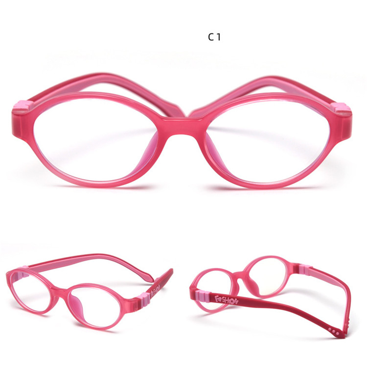 Colorful silicone optical frame blue light blocking kid glasses