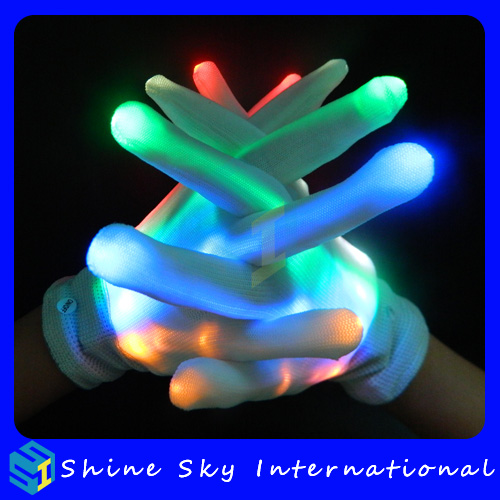 Wholesale rgb led gloves,led costume Halloween party lights led dance costumes