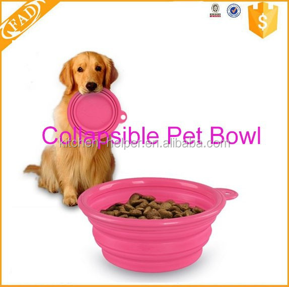 Rainbow Color Healthy Diet Pet products Silicone Dog Bowl