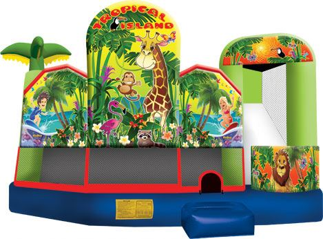 Tropical Island 5 In 1 Combo inflatable combos