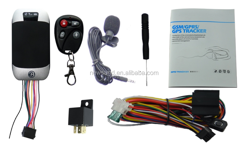 GPS 303G GPS Tracker Vehicle Car GPS/GSM/GPRS SMS Remote Control Fuel Sensor