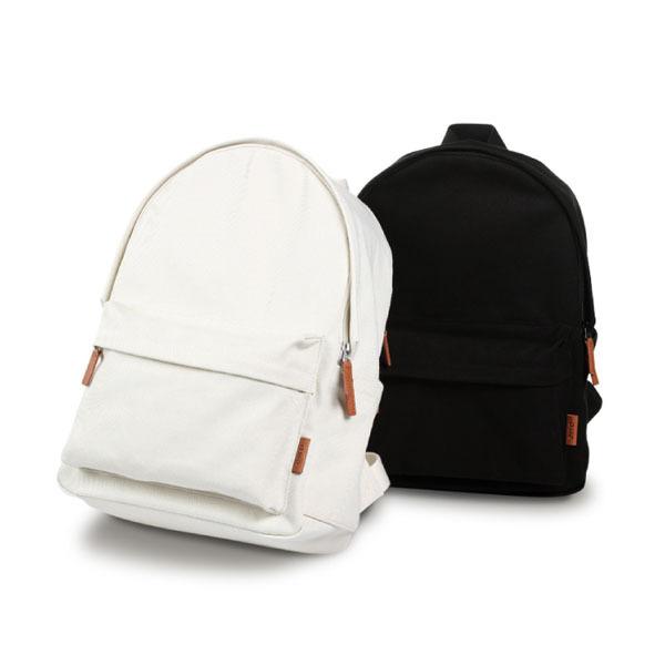 Brief Canvas Backpack / Black School Bag /white School Bag