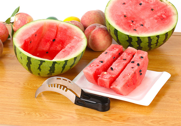 High quality  Non-slip Stainless steel watermelon cutter