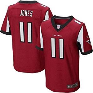 Nike NFL Elite Atlanta Falcons Julio Jones #11 Game Team Jersey Red