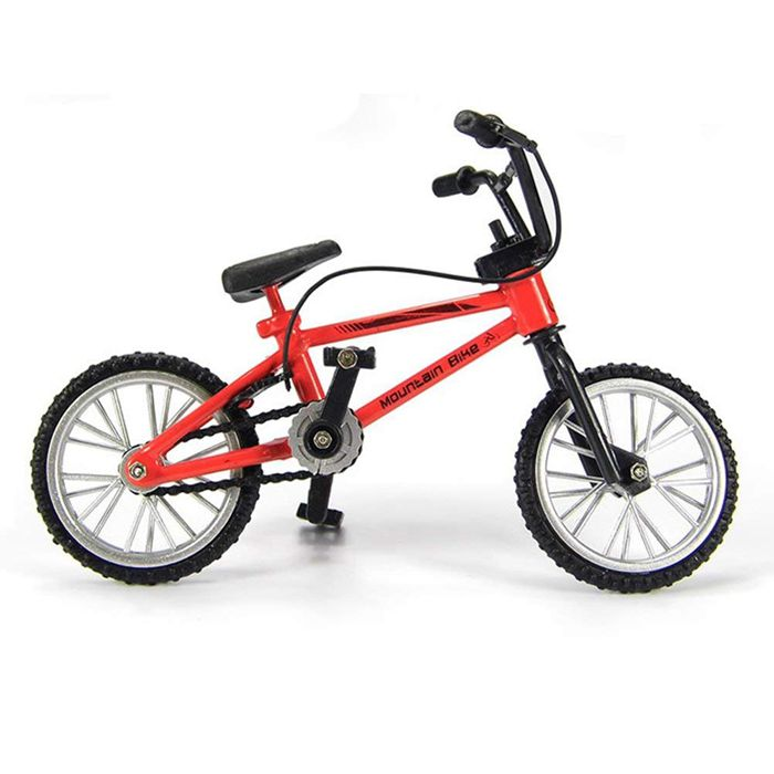 Miniature Metal Toys Extreme Sports Finger Bicycle Mountain Bike Cool Boy Toy Creative Game Gift Red