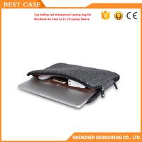 Top Selling Felt Waterproof Laptop Bag Case for MacBook Air Case 11 12 15 Laptop Sleeve