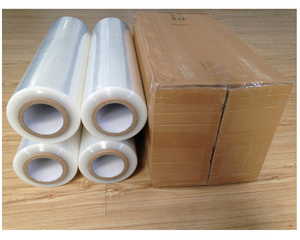 High quality black lldpe pallet packaging stretch film for corrugated boxes