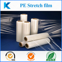 PE stretch film for packing and wrapping, clear flexible and soft plastic film for carton and pallets