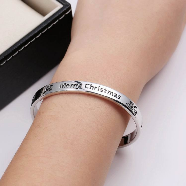 Ladies Charm jewelry merry Christmas silver Bracelets Statement Bracelet For Women Carter Christmas Gift