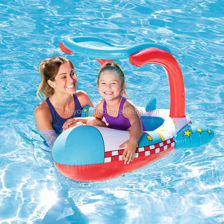 Bestway Uv Careful Inflatable Boat Pool Float With Cover