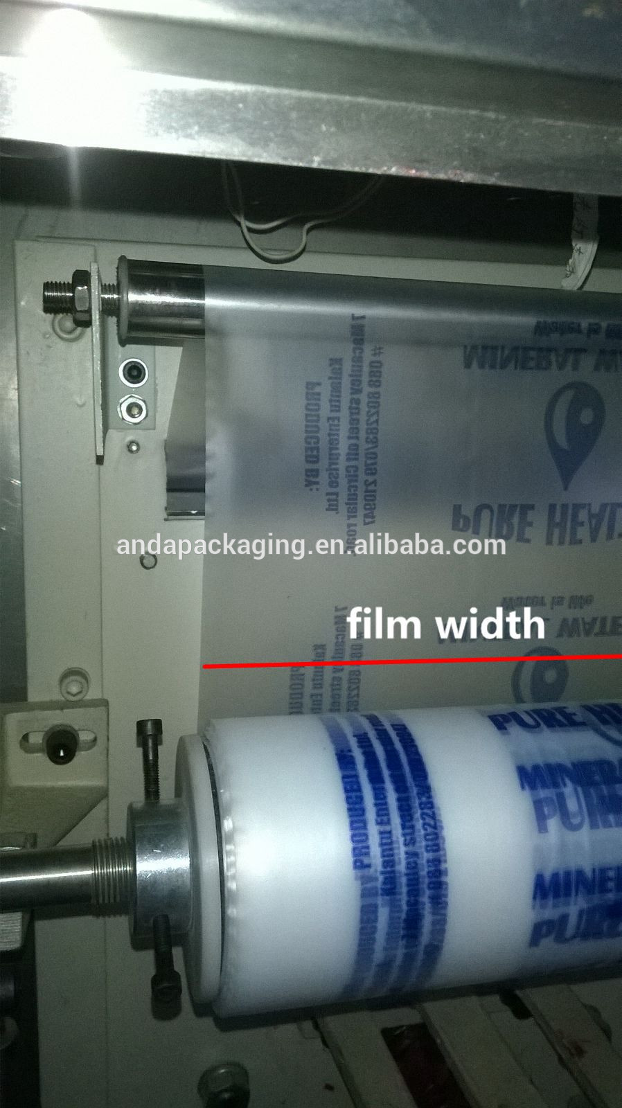 Gravure Printing Hdpe Plastic Roll Water Pouch Disposable