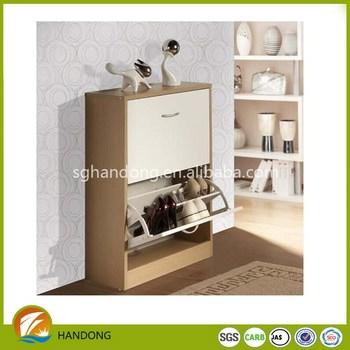 Modern Shoe Cabinet Outside Wood Shoe Rack Storage Design