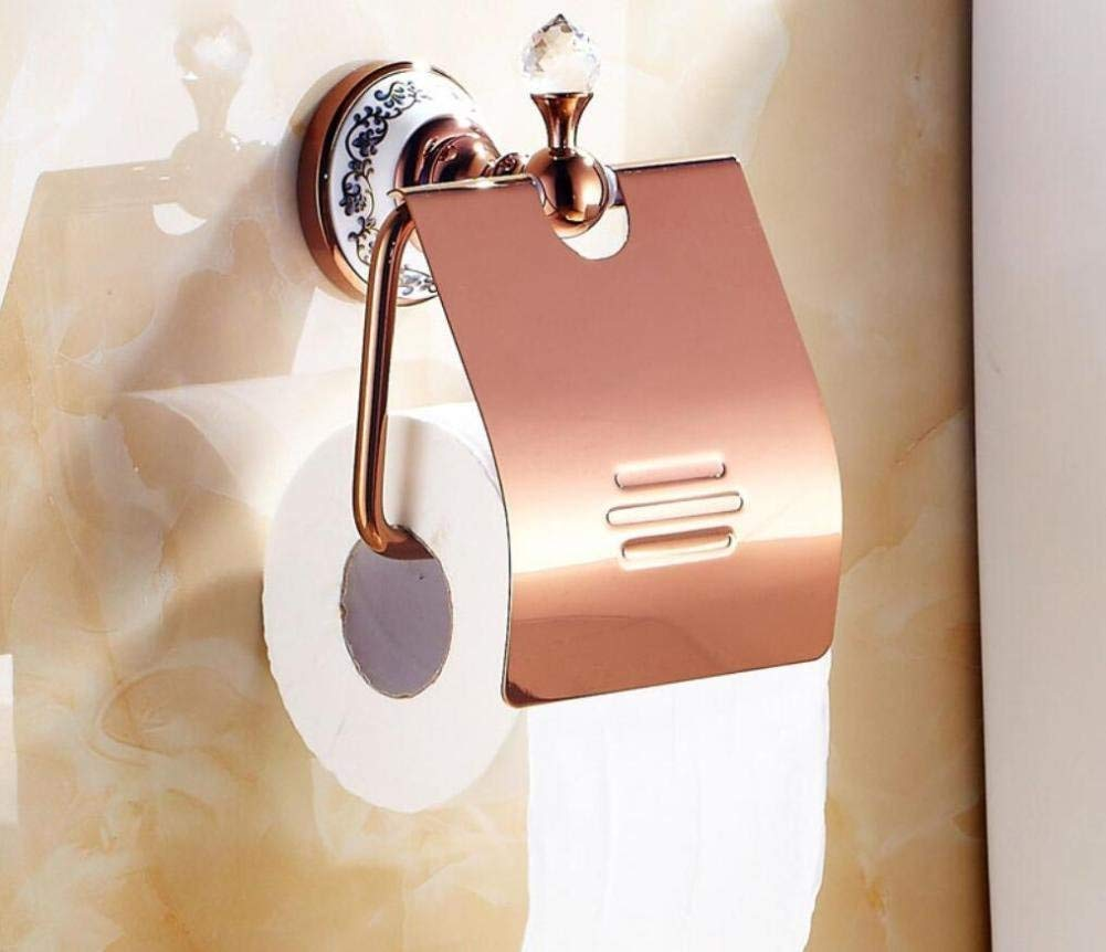 Pink Gold Door-Paper Napkins Wc Former Paper Holder Door-Roll Of Paper From European Style Paper Material Bathroom Pink Gold Pendant,Of The Chassis