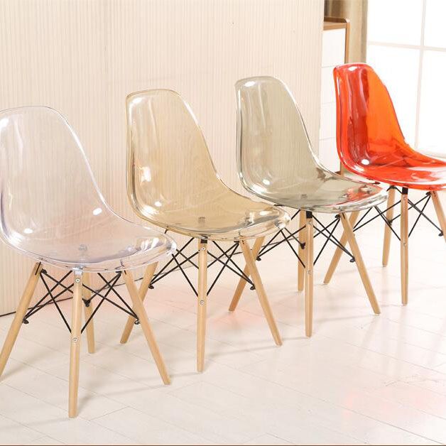 Italian design bazhou manufactures decorative modern cheap plastic chair Plastic transparent dining chair