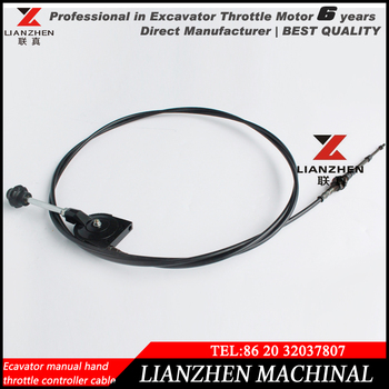 Excavator Parts Manual Hand Throttle Controller Cable For  Komatsu,Caterpiller,Hitachi - Buy Throttle Cable,Throttle Controller  Cable,Excavator Parts