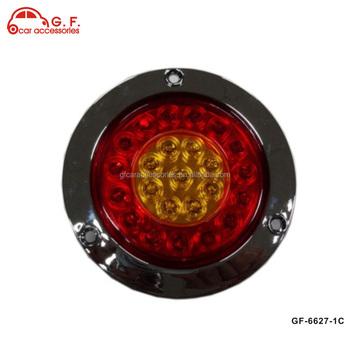 Red Amber 4 Inch Round Rubber Grommet Trailer Truck Led Turn Stop Brake  Tail Light