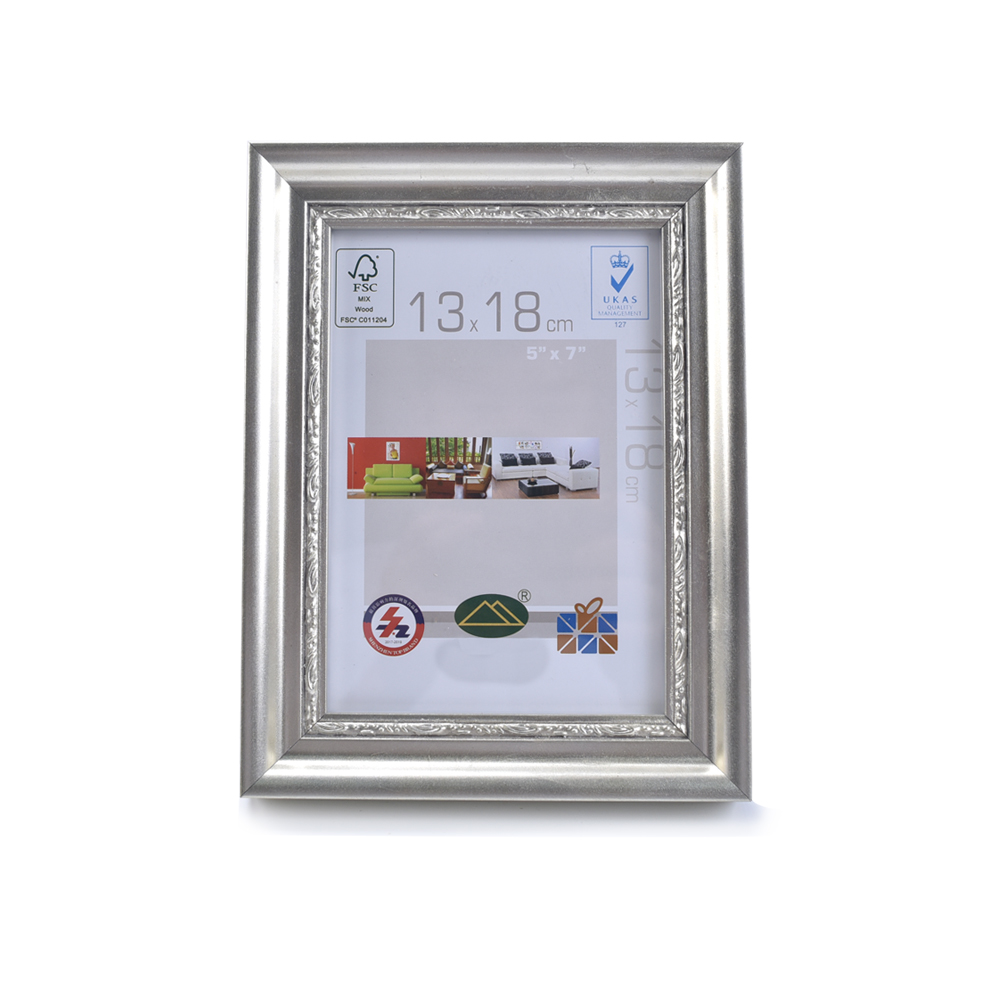 Elegant Classical Silver Graduation Wholesale Backing Glossy Glass Wood Photo Frame