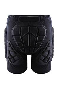 TOOGOO(R) Protective Hip Butt Pad BMX Motorcycle Motorcross Race Shorts Pad Hip Protector Gear Impact Protection Black XXL