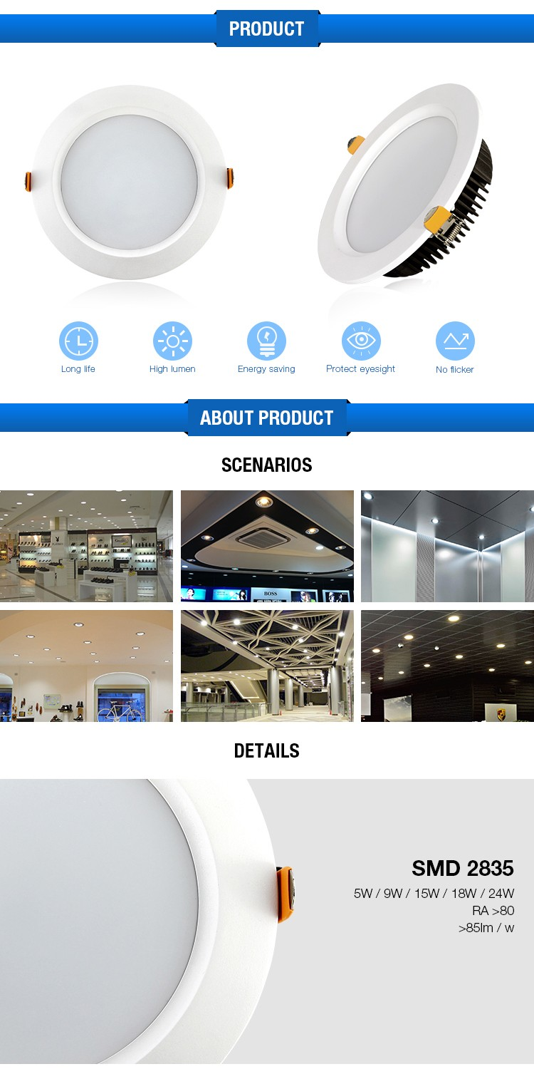 Factory Wholesale Price Smd Downlight Slim Led Light Recessed ...