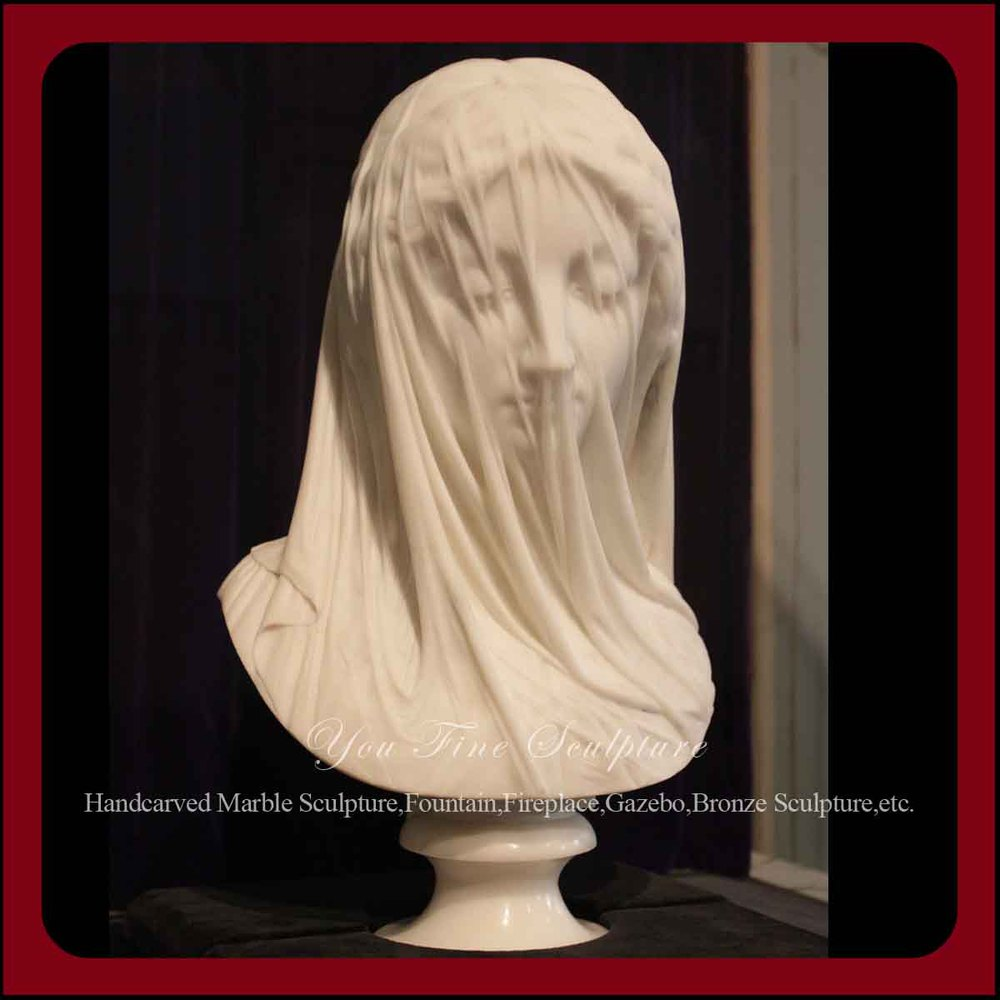 Carving Beautiful Marble Veiled Lady Bust Statues Buy
