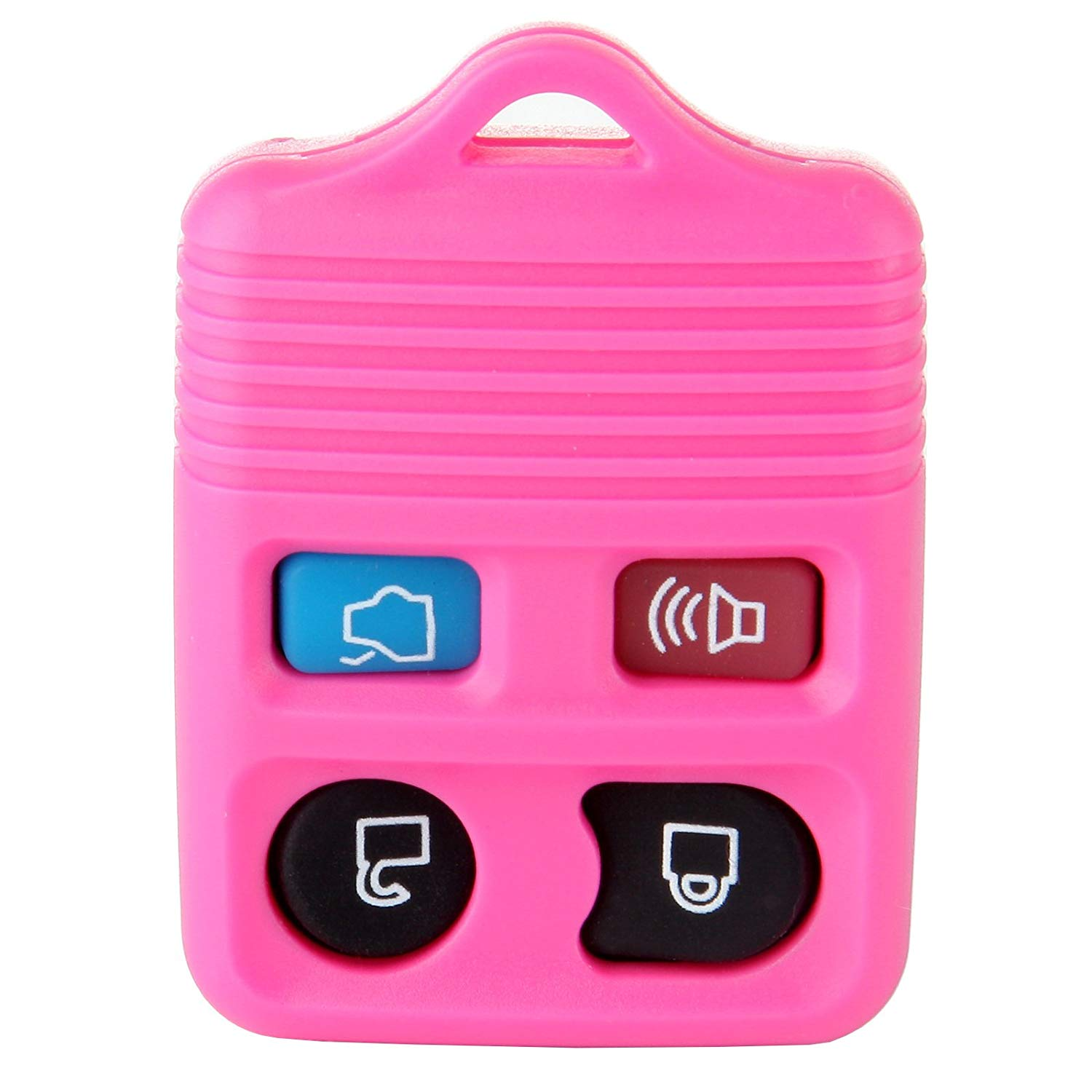 SCITOO New Pink Replacement Keyless Entry Remote Car Key Fob Shell Case Button Pad