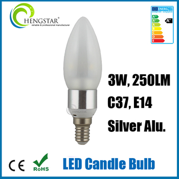 High Quality 3w 4w 5w 6w Candle Shaped Led Light Bulb,Dimmable C37 ...
