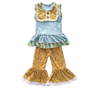 Wholesale Persnickety Ruffles Girl Clothing For Toddler Girl Holiday Clothing Sets For Baby Ruffles Clothing Sets