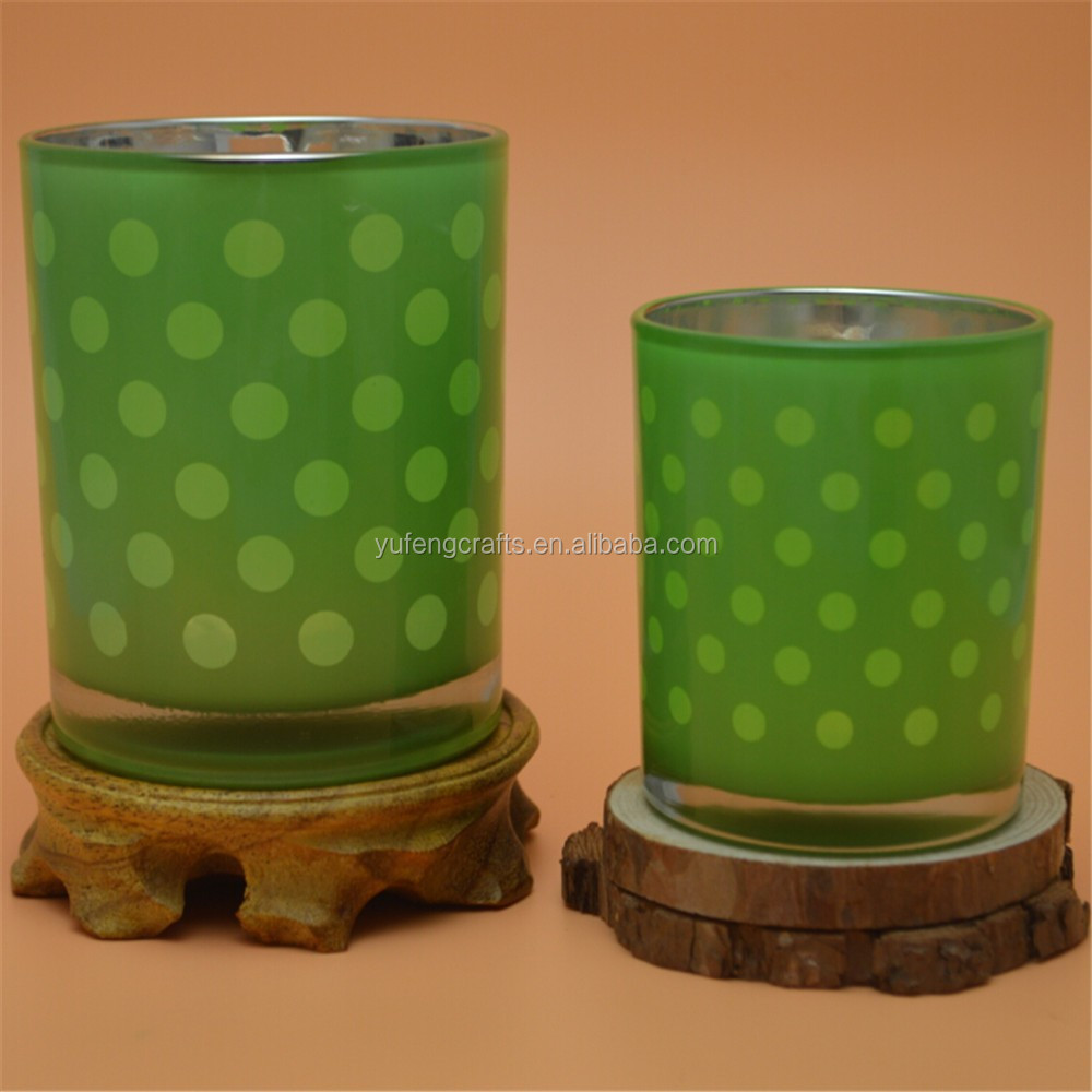 spring series candle jar colored glass votive holders