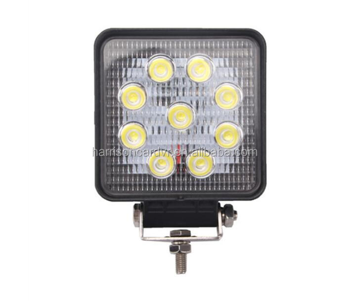27W Square Work Light Bar Led faros Led Driving Light IP67 for Tractor Boat Off Road 4WD 4x4 Truck Tralier mining tractor