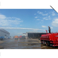Small 4m3 fire fighting water bowser truck