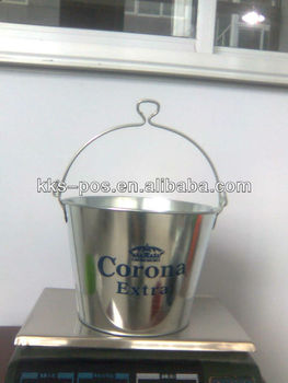 5L tin ice bucket with bottle opener