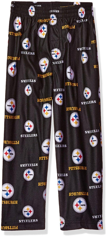 NFL Pittsburgh Steelers Toddler Allover Logo Flannel Pajama Pants - Black