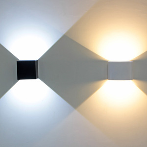 LED Square Round Indoor Wall Lamp Waterproof Adjustable Wall LED Light for Hotel Aisle