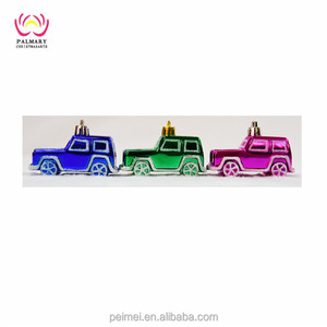 8cm 3pcs personalized Christmas mini car for hanging Christmas tree decoration,christmas car bauble
