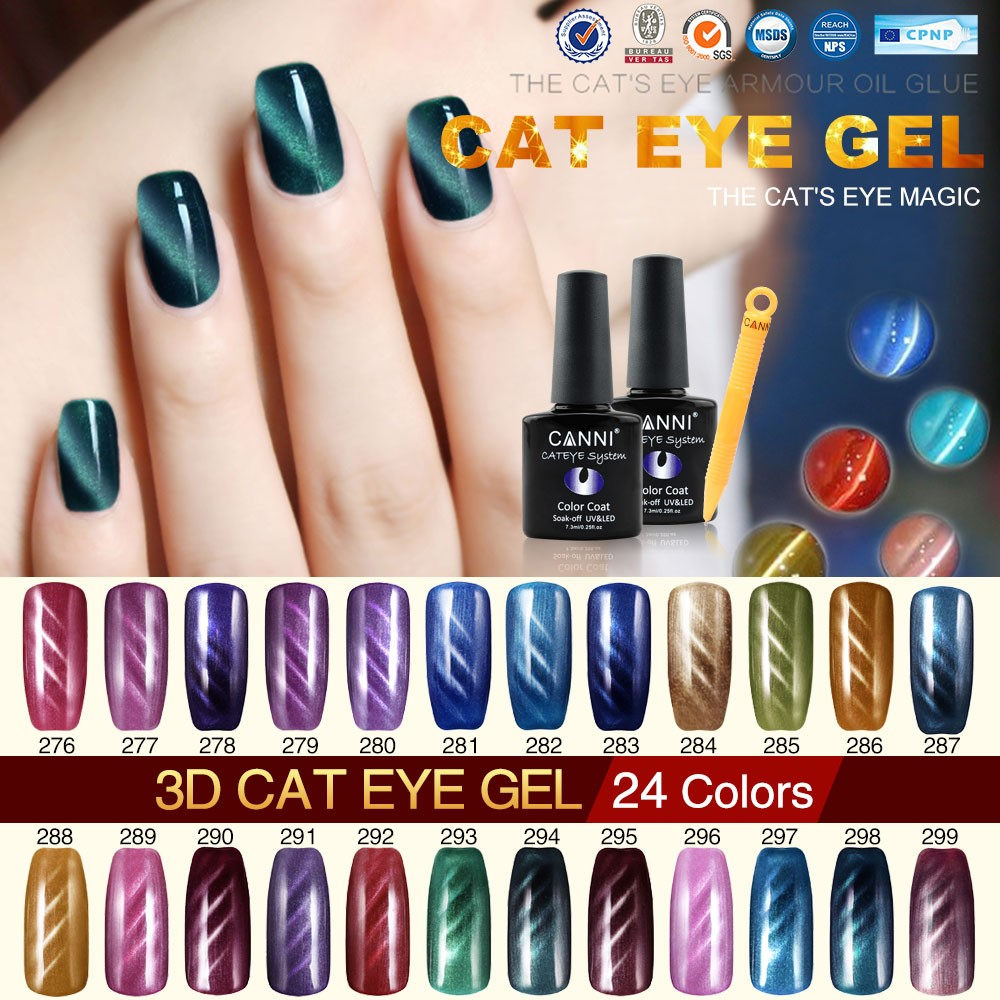 51023X CANNI Nail Art Design Wholesale Cat Eye Gel Polish 7.3ml 24 ...