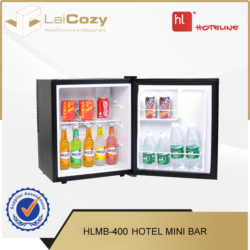 Factory direct wholesale 30L black hotel cabinet mini bar for sale