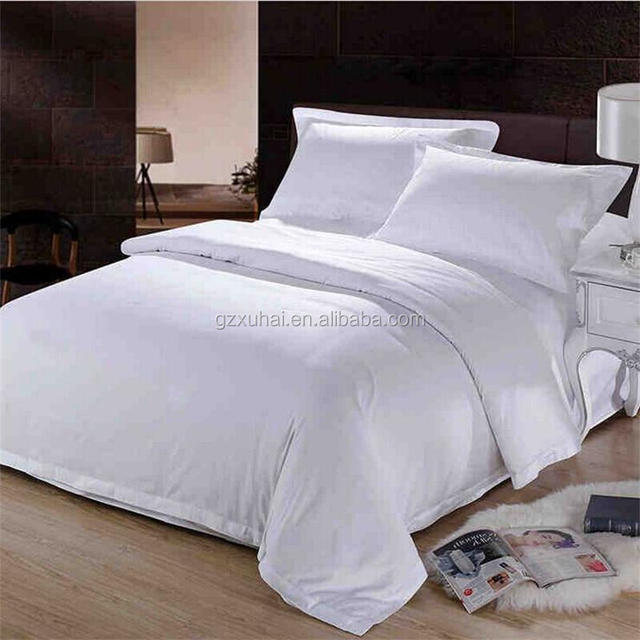 Wholesale 40*40S 250T Cotton Satin Bed Linen/Bed Sheet/Bed Cover Set