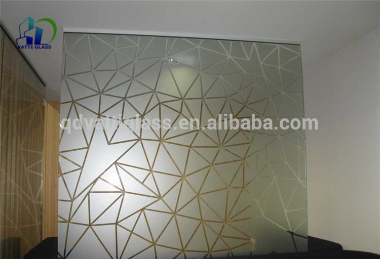 Acid Etched Glass Living Room Glass Partition Design Frosting Glass Partitions For Shower